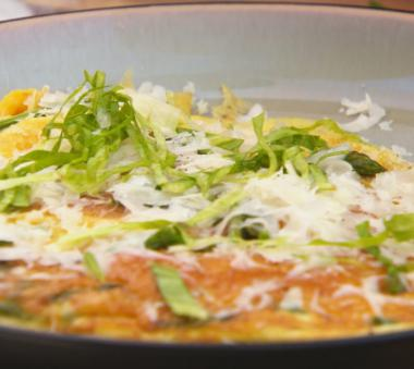 Recept 'frittata van groene asperges'