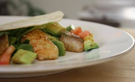Fish taco`s met mojito dressing recept