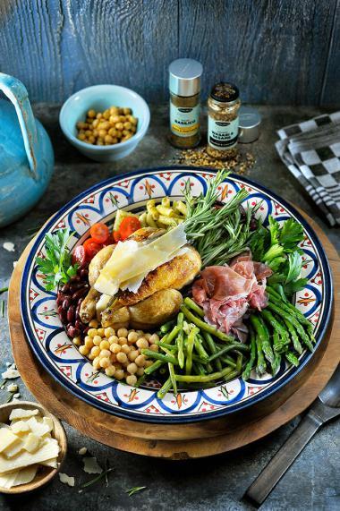 Recept 'halve haantjes op de bbq met een abruzzi-salade'