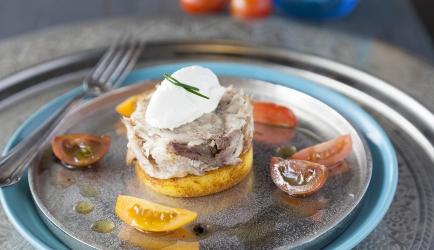 Gerookte makreel met mango in ras el hanout recept
