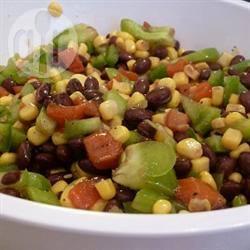 Salsa van zwarte bonen en zoete maïs recept