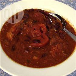 Kalkoen-chili uit de slowcooker recept