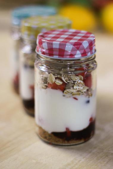 Recept 'fruityoghurt'