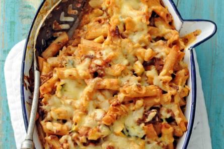 Pasta met gehakt en kaas