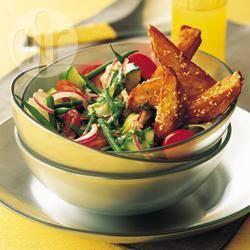 Gesmolten brie met groenten recept