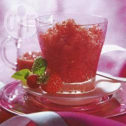 Aardbeien-cranberrygranita recept