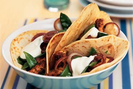 Taco's met mexicaanse kip