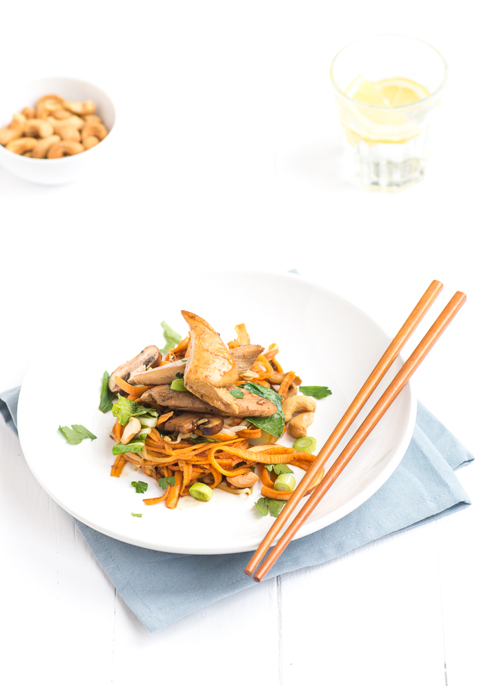 Fresh & easy: oosterse zoete aardappel noodles