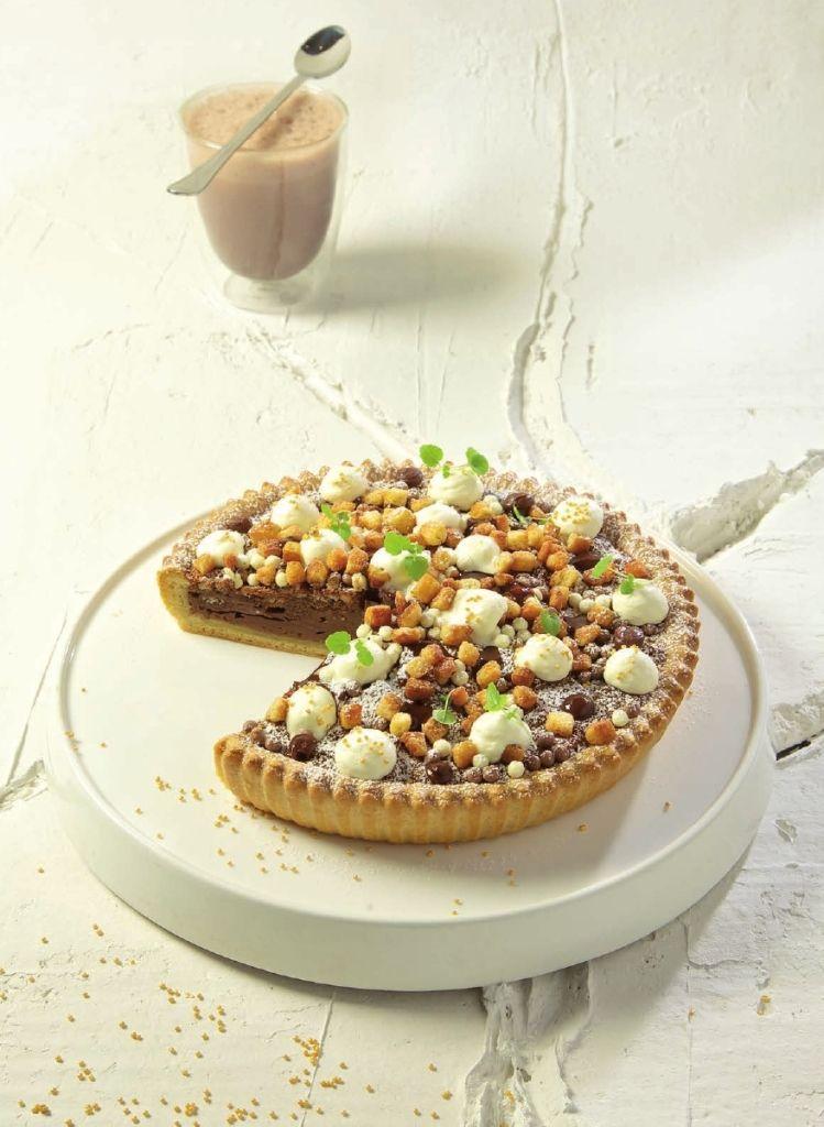 Recept 'chocoladetaart met hazelnootpasta'