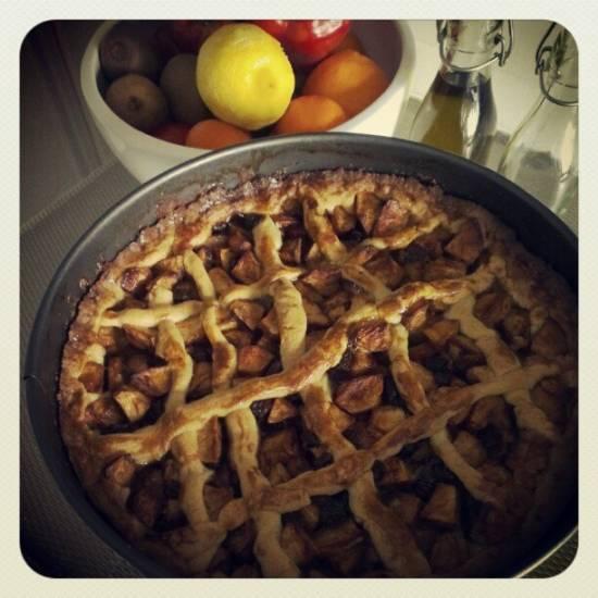 Overheerlijke zelfgemaakte appeltaart. recept