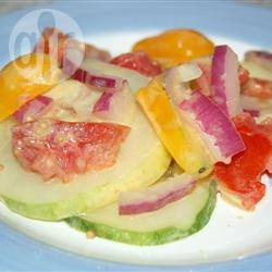 Salade met mosterd vinaigrette recept
