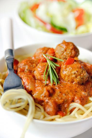 Recept 'spaghetti met parmezaan balletjes'
