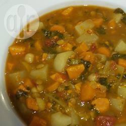 Vegetarisch marokkaans stoofpotje recept