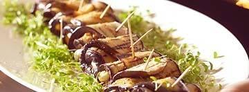 Aubergine rolletjes met mozarella recept