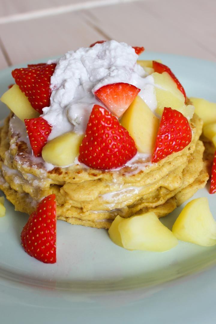 Recept 'havermoutpannenkoeken met appeltjes'
