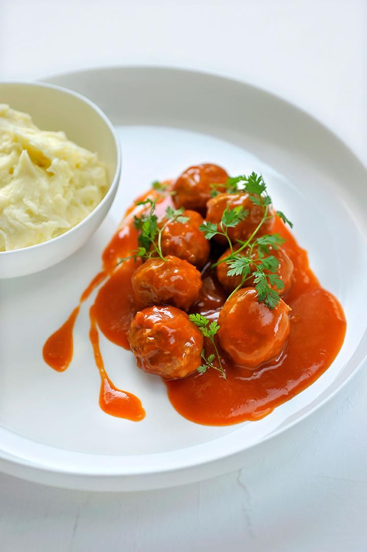 Recept 'balletjes in tomatensaus'
