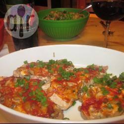 Varkenshaas met gebakken champignons en kaas recept ...