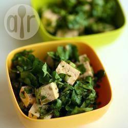 Salade van tofu en waterkers recept