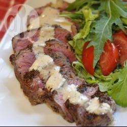 Biefstuk met groene pepersaus recept