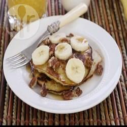 Bananenpannenkoeken met 2 ingrediënten recept