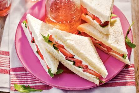 Sandwich aardbei
