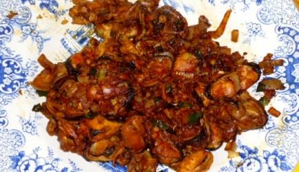 Pittige mosselen met chinese kruiden recept
