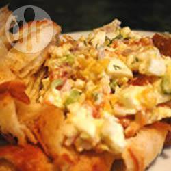 Gerookte zalm en ei-mayonaise. recept