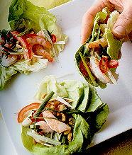 Gevulde wraps met garnalensalade recept