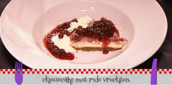 Rodevruchten cheesecake recept