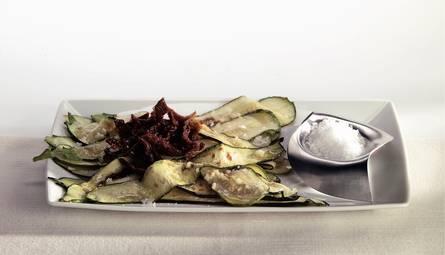 Salade van gegrilde courgettes