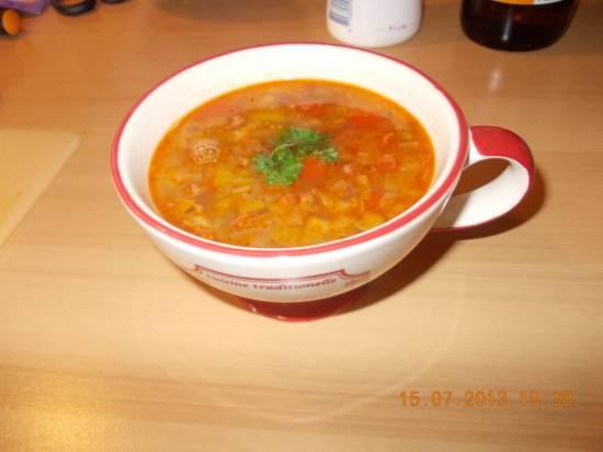 Spaanse soep met witte bonen en chorizo recept