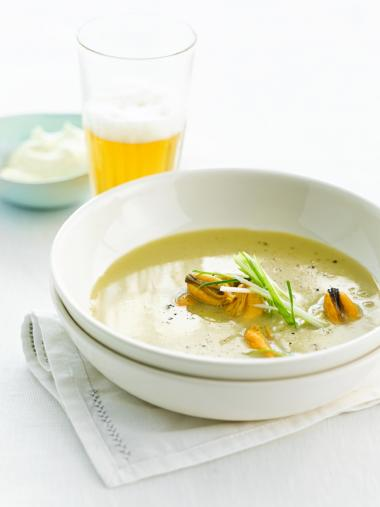 Recept 'mosselsoepje met la chouffe'