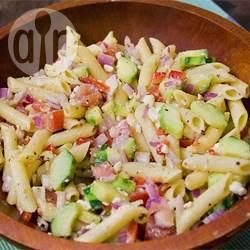Griekse pastasalade recept