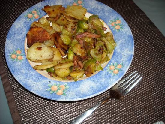 Spruitjes uit de wok met spek en uitjes van trees recept ...