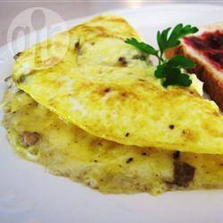 Omelet met champignon en kaas recept