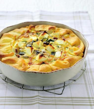 Recept 'quiche veggie met feta en basilicum'