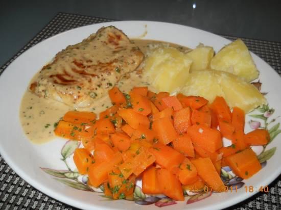 Kabeljauwfilet met mosterdroomsaus en dille recept