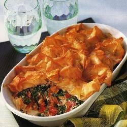 Filotaart met spinazie en geitenkaas recept