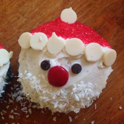 Kerstman cupcake recept