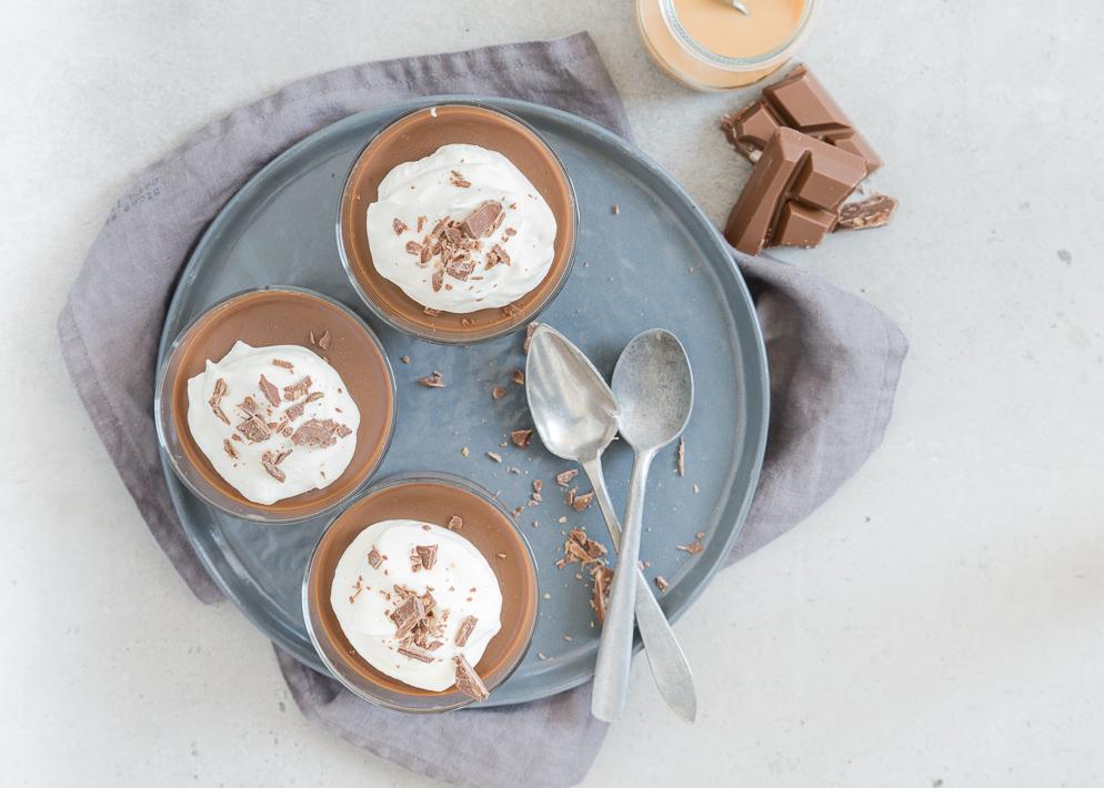 Kerstdessert: tony's salted caramel chocoladepotjes