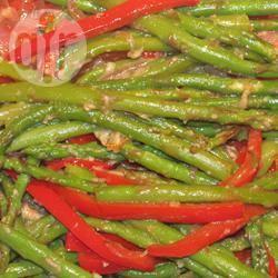 Asperges en rode paprika met balsamico recept