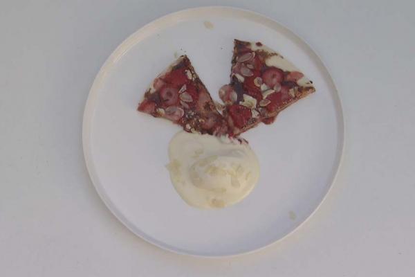Dessertpizza op de bbq