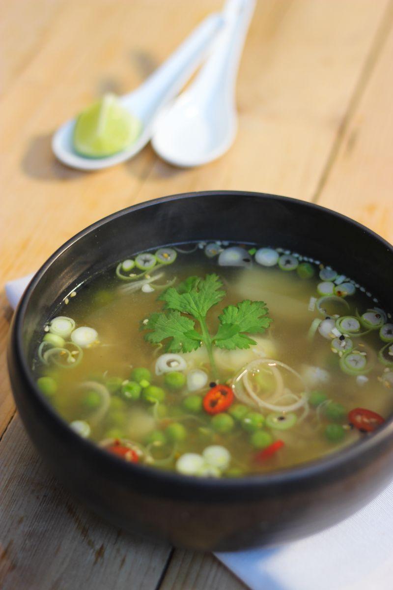 Recept 'vietnamese rijstsoep met kabeljauw'