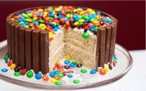 m en m taart Kitkat M&M Taart recept | Smulweb.nl m en m taart